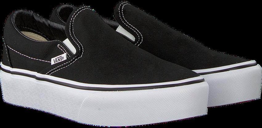 Zwarte VANS Sneakers CLASSIC SLIP-ON PLATFORM - larger
