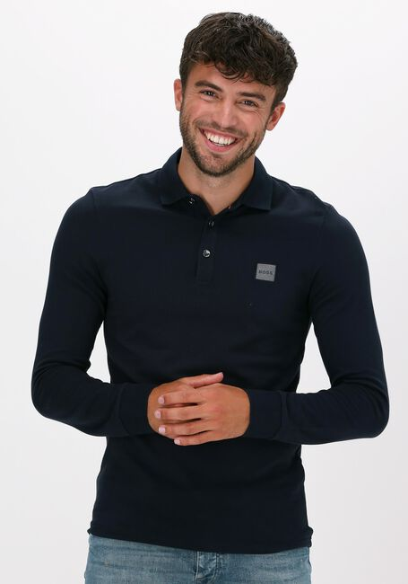 Donkerblauwe BOSS Polo PASSERBY 1 10193126 - large
