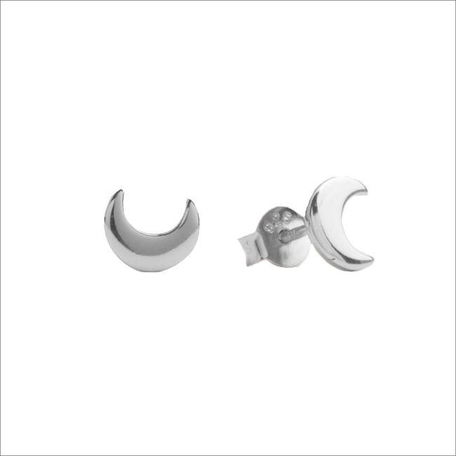 Zilveren ATLITW STUDIO Oorbellen PARADE EARRINGS MOON - large