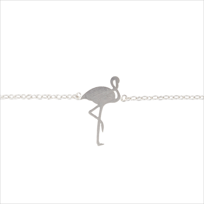 Zilveren ALLTHELUCKINTHEWORLD Armband ELEMENTS BRACELET FLAMINGO - large