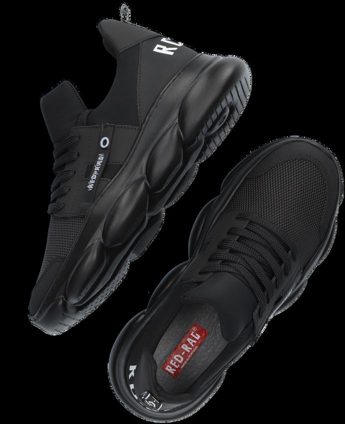 Zwarte RED-RAG Lage sneakers 13527  - larger