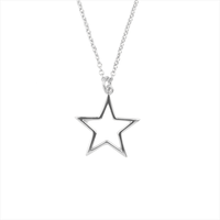 Zilveren ATLITW STUDIO Ketting SOUVENIR NECKLACE STAR - medium