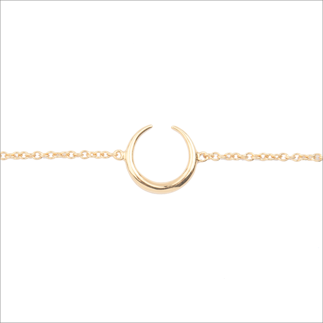 Gouden ALLTHELUCKINTHEWORLD Armband SOUVENIR BRACELET HORN - large