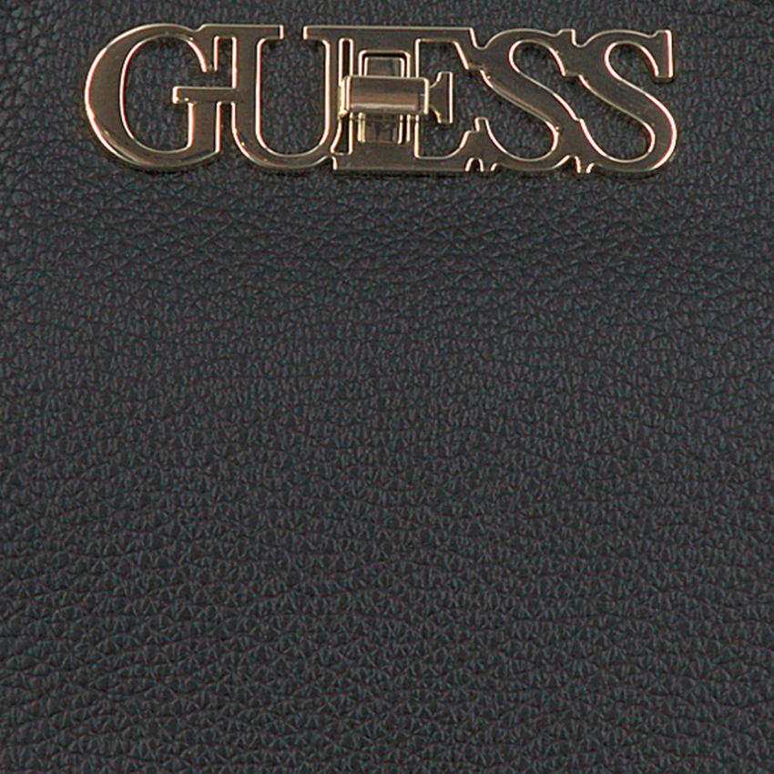 Zwarte GUESS Handtas UPTOWN CHIC TURNLOCK SATCHEL  - larger