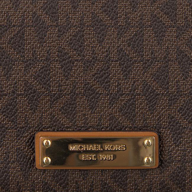 Bruine MICHAEL KORS Portemonnee FLAP CARD HOLDER - large