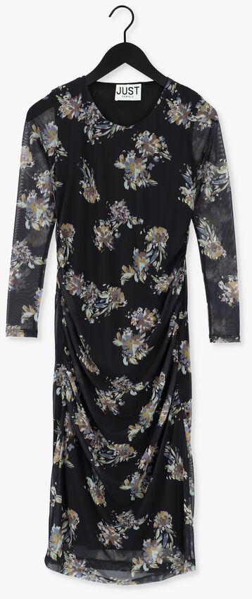 Zwarte JUST FEMALE Midi jurk ANLIA DRESS - larger