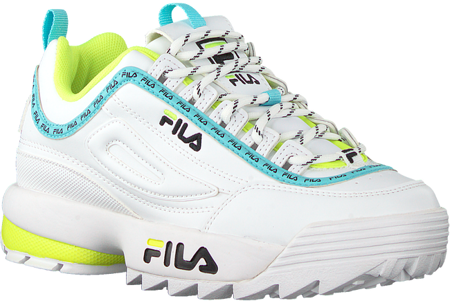 Witte FILA Lage sneakers DISRUPTOR KIDS  - large