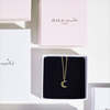 Gouden ALLTHELUCKINTHEWORLD Ketting FORTUNE NECKLACE MOON - small