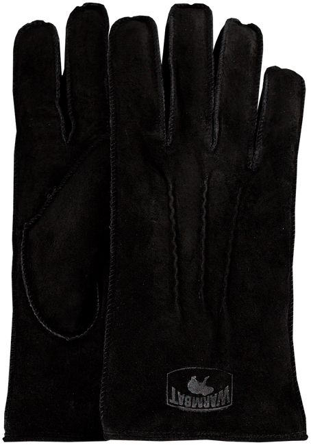 Zwarte WARMBAT Handschoenen GLOVES WOMEN SUEDE - large