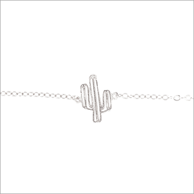 Zilveren ALLTHELUCKINTHEWORLD Armband ELEMENTS BRACELET CACTUS - large