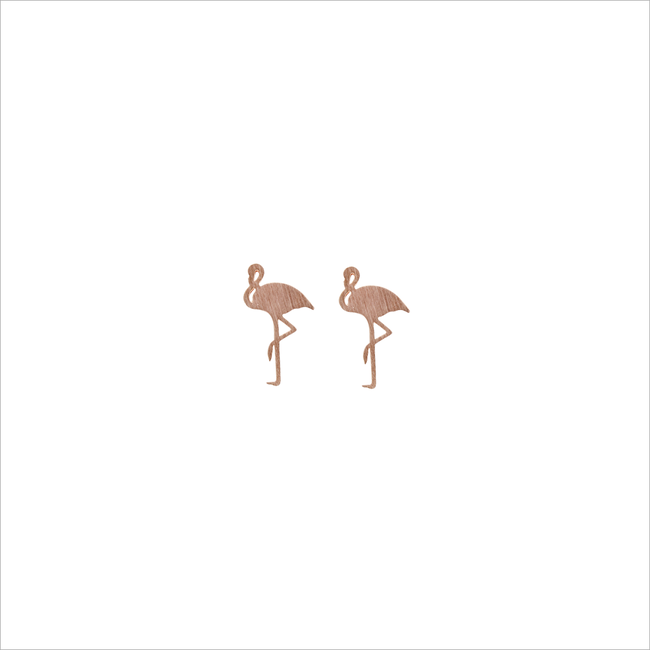ALLTHELUCKINTHEWORLD OORBELLEN ELEMENTS EARRINGS FLAMINGO - large