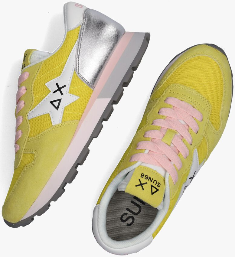 Gele SUN68 Lage sneakers ALLY STAR BASIC W  - larger