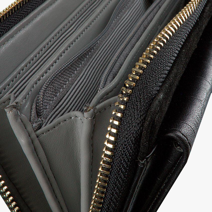 Zwarte LOULOU ESSENTIELS Portemonnee SLB CLASSY CROC  - larger