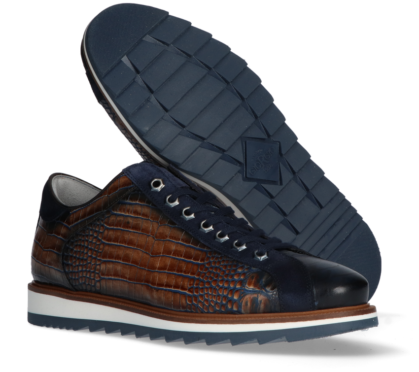 Bruine GIORGIO Lage Sneaker 64918 - larger