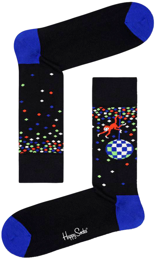 Zwarte HAPPY SOCKS Sokken DISCO MONKEY  - larger