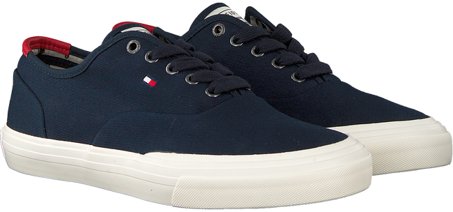 Blauwe TOMMY HILFIGER Lage sneakers CORE OXFORD TWILL - large