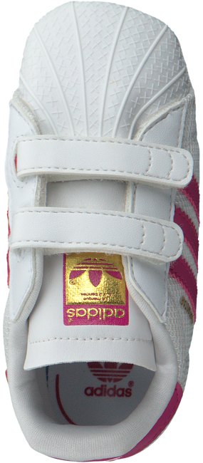 Witte ADIDAS Babyschoenen SUPERSTAR CRIB  - large