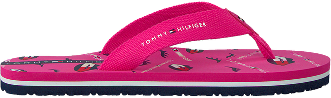 Roze TOMMY HILFIGER Teenslippers LIPS PRINT  - large