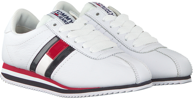 Witte TOMMY HILFIGER Sneakers TOMMY JEANS RETRO FLAG SNEAKER  - large