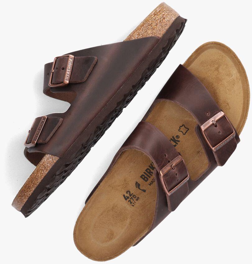 Bruine BIRKENSTOCK Slippers ARIZONA FL HABANA NARROW  - larger