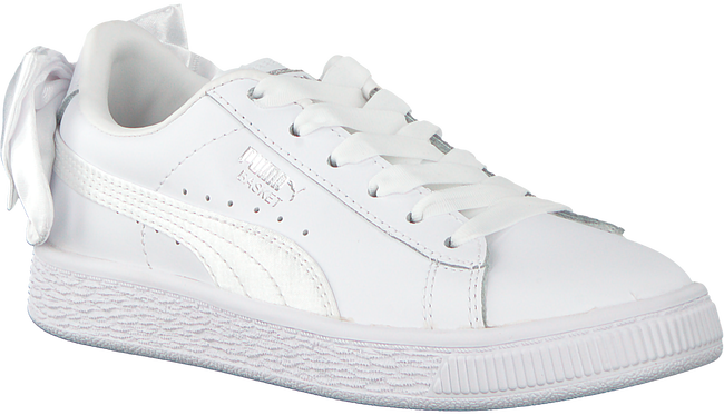 Witte PUMA Sneakers BASKET BOW AC PS - large