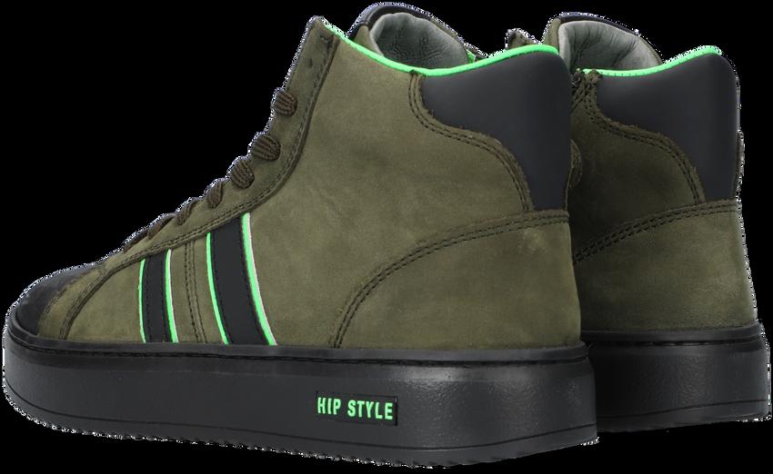 Groene HIP Hoge sneaker H1943  - larger