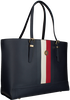 Blauwe TOMMY HILFIGER Handtas HONEY MED TOTE  - small