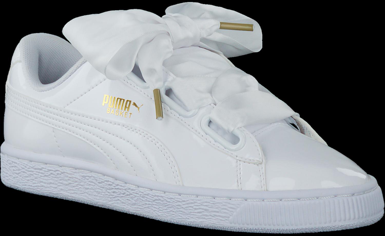 Witte PUMA Sneakers BASKET HEART PATENT Omoda.nl