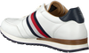 Witte TOMMY HILFIGER Sneakers LUXURY CORPORATE LEATHER RUNNER - small