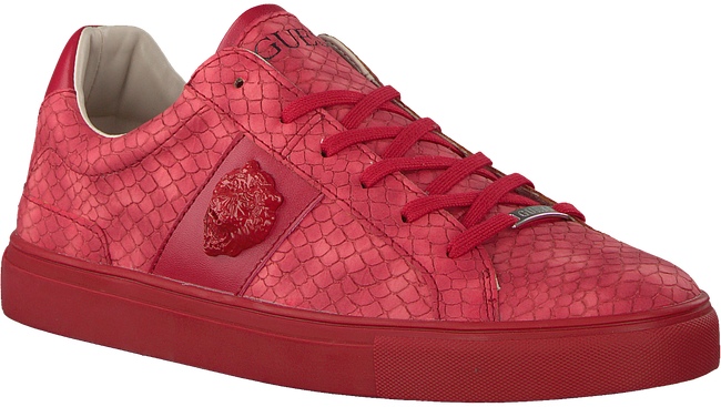 Rode GUESS Sneakers LUISS B PRINTED ECO LEATHER  - large