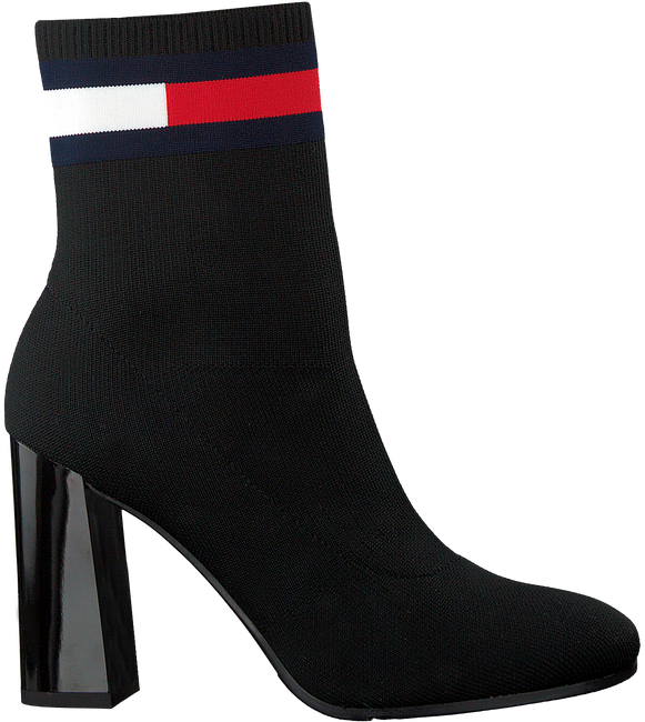 Zwarte TOMMY HILFIGER Enkellaarsjes SOCK HEELED BOOT - large