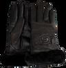 Zwarte UGG Handschoenen CLASSIC LEATHER LOGO GLOVE - small