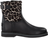 Zwarte GIGA Enkellaarsjes 9511 - small