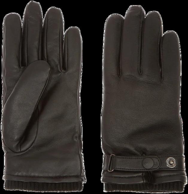 Zwarte UGG Handschoenen LEATHER BELTED GLOVE - large