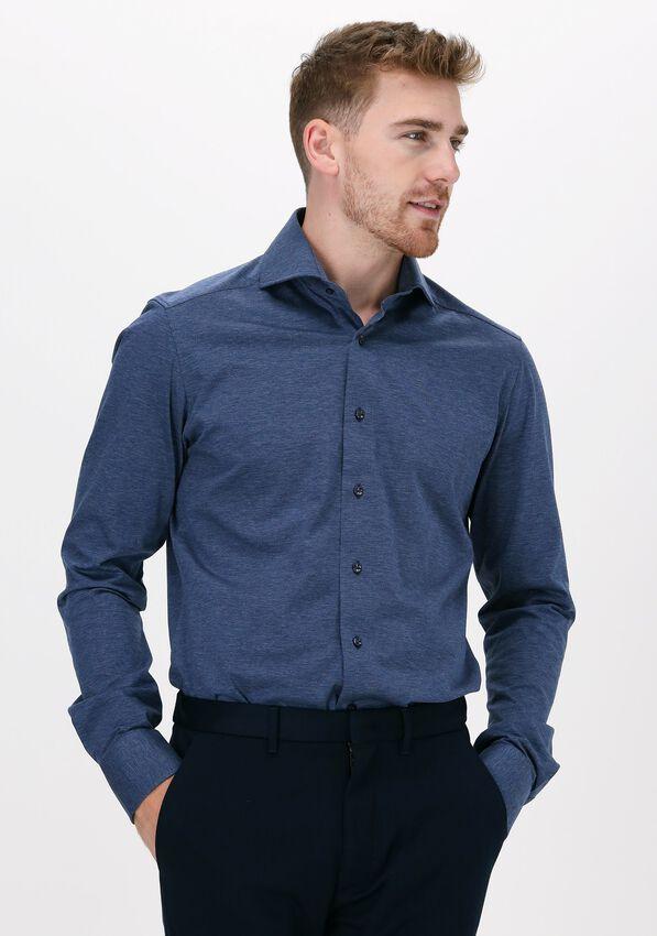 Blauwe PORTO MILANO Casual overhemd FARO  - larger