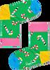 Groene HAPPY SOCKS Sokken CANDY CANE SOCK  - small