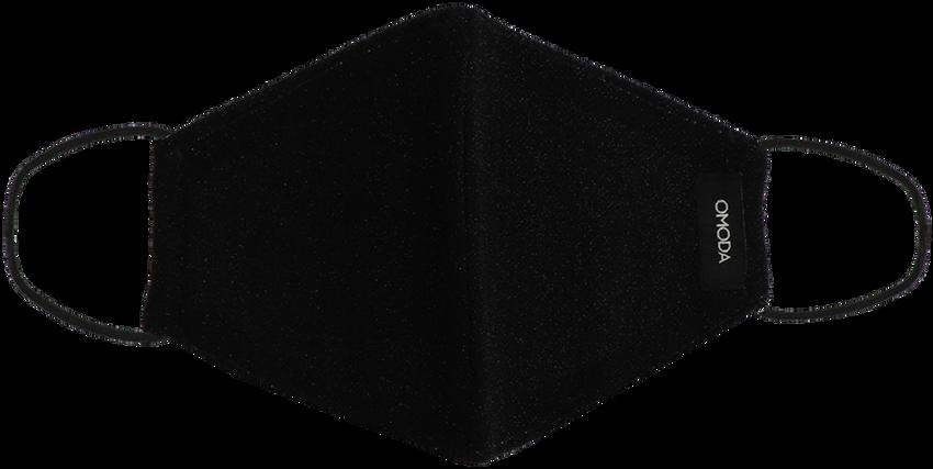 Zwarte OMODA Mondkapje GLITTER - larger