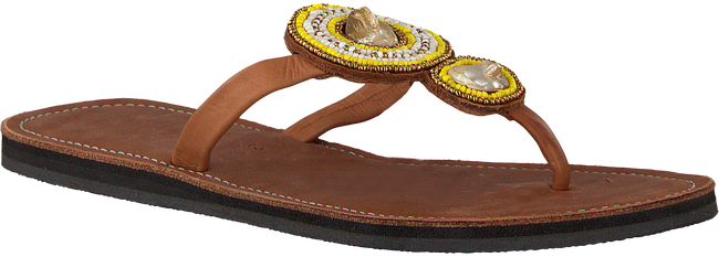 Cognac OMODA KUBUNI Slippers SLIPPER FLOWER - large