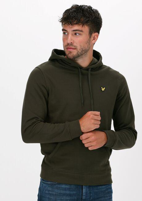 Groene LYLE & SCOTT Sweater PULLOVER HOODIE - large