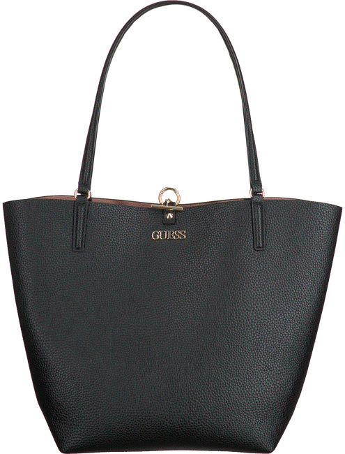 Zwarte GUESS Handtas ALBY TOGGLE TOTE  - large