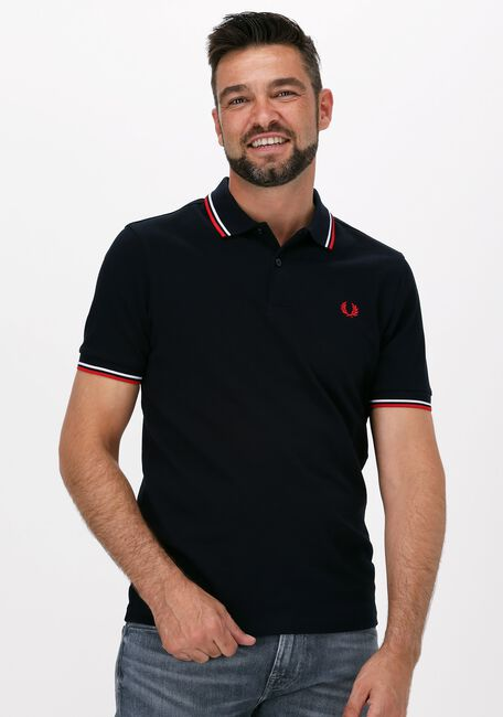 Donkerblauwe FRED PERRY Polo TWIN TIPPED PRED PERRY SHIRT  - large