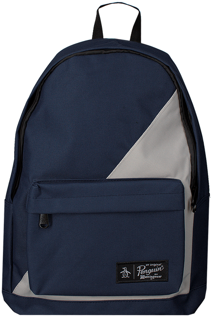 Blauwe ORIGINAL PENGUIN Rugtas HOMBOLD BLOCK BACKPACK - large