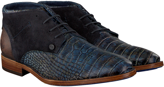 Blauwe REHAB Nette schoenen SALVADOR CROCO  - large