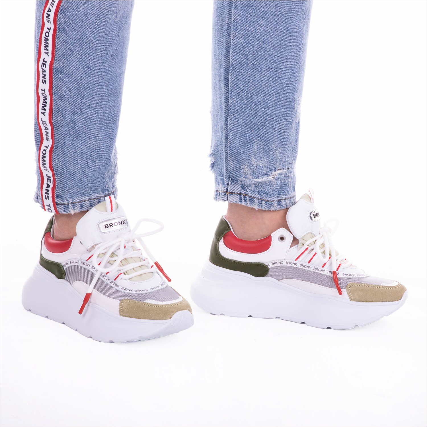 Witte BRONX Sneakers GRAYSON | Omoda