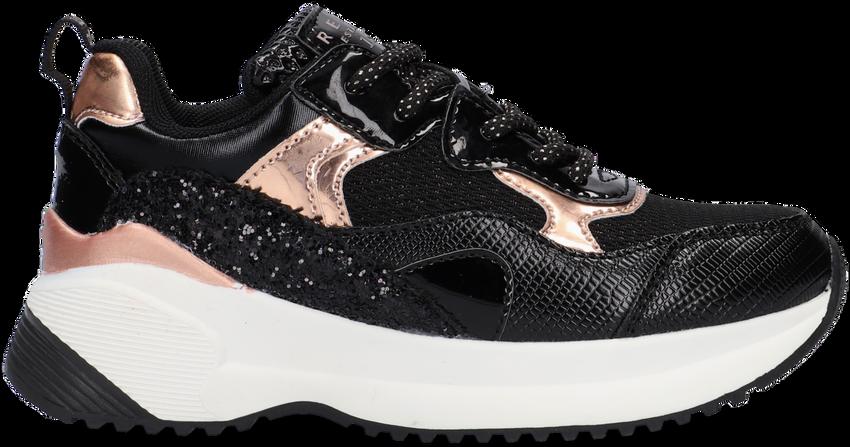 Zwarte REPLAY Lage sneakers CLOCK  - larger