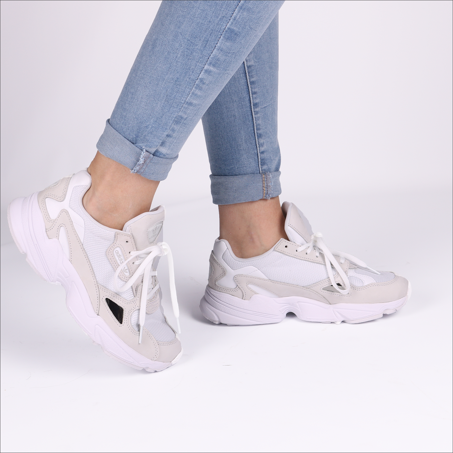 Witte ADIDAS Sneakers FALCON W | Omoda