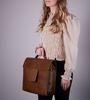 Bruine MYOMY Laptoptas MY HOME BAG BUSINESS BAG  - small