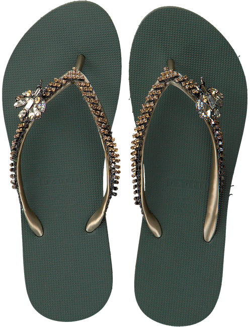 Groene UZURII Slippers GOLD FLY - large