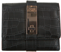 Zwarte GUESS Portemonnee ASHER SLG SMALL TRIFOLD  - medium