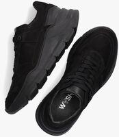 Zwarte WYSH Hoge sneaker TIJS  - medium